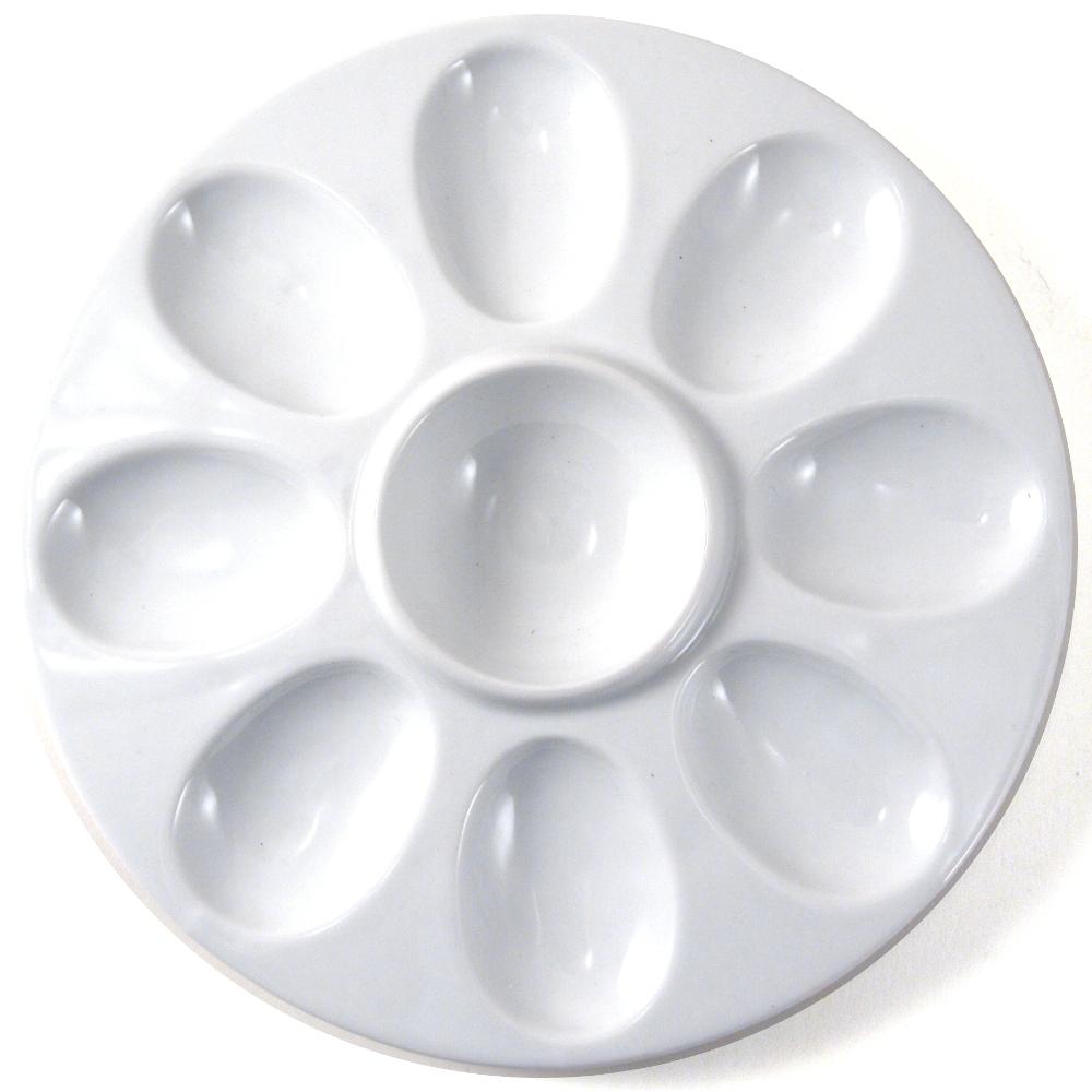 Omniware 8 Cup White Porcelain Devilled Egg Tray