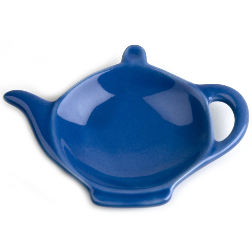 Omniware Simply Blue Ceramic Tea Caddy and Infuser Holder