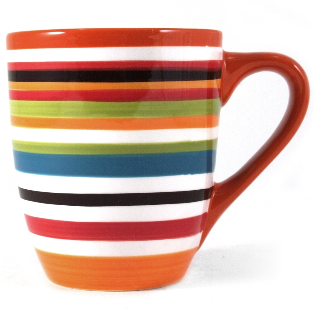 Omniware Ceramic Multi Strip Rio Coffee Mug