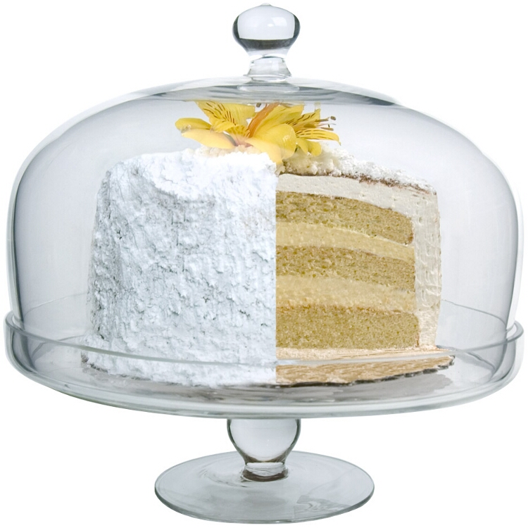 Artland Simplicity Glass Cake Plate with Dome
