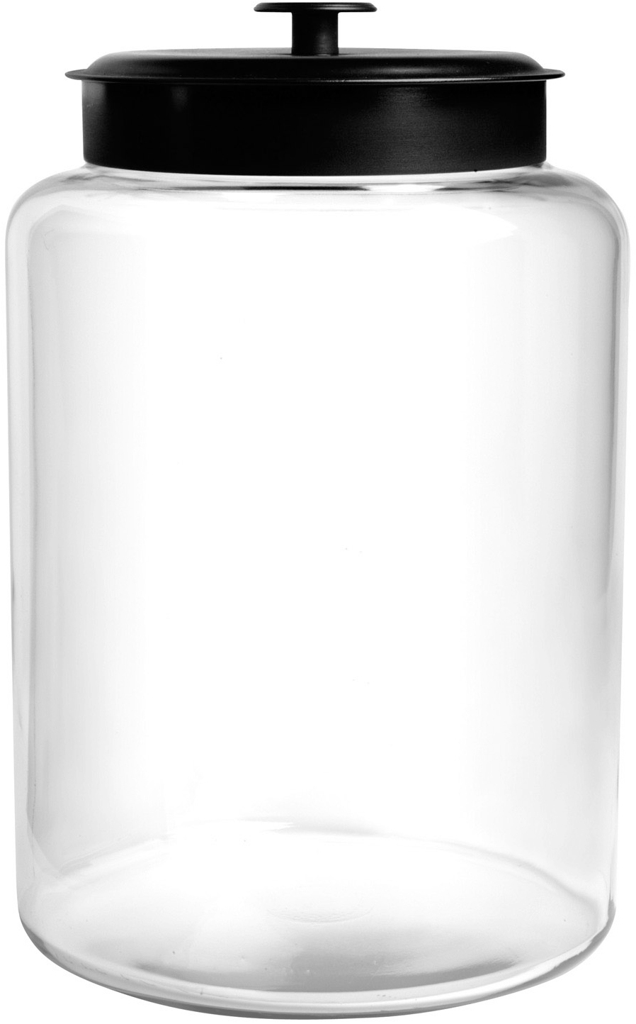Anchor Hocking Glass Montana Jar with Black Aluminum Cover, 2.5 Gallon