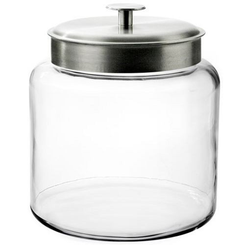 Anchor Hocking Glass Montana Jar with Brushed Aluminum Cover, 1.5 Gallon