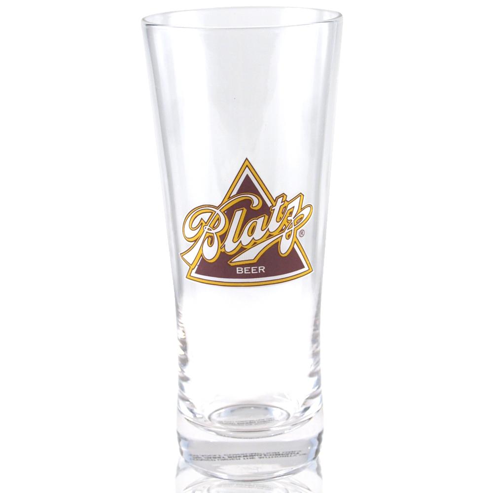 Blatz Beer Flared Pilsner Glass Officially Licensed, Set of 4