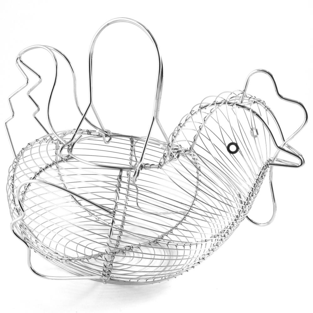 Supreme Housewares Stainless Steel Hen-Shaped Egg Basket