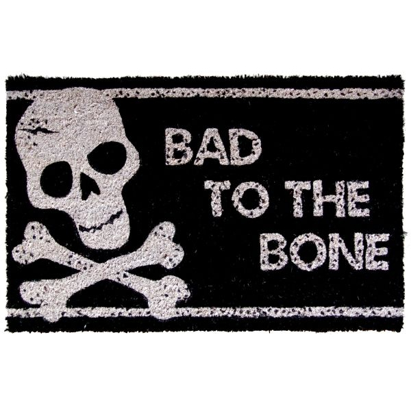 Bad to the Bone Hand Woven Coir Non-Slip Doormat, 17 x 28 Inch