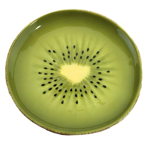 Gourmet Home Collection Green Kiwi Ceramic Appetizer Plate