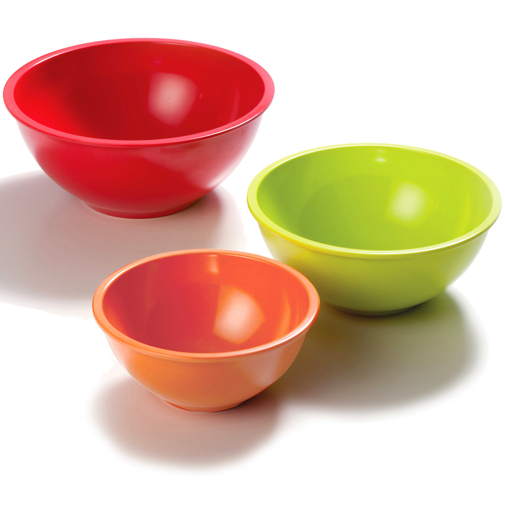 Norpro Multicolored Melamine Bowl, Set of 3
