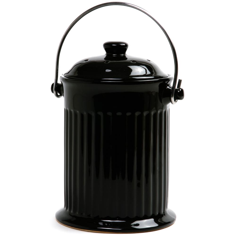 Norpro Black Ceramic Compost Keeper