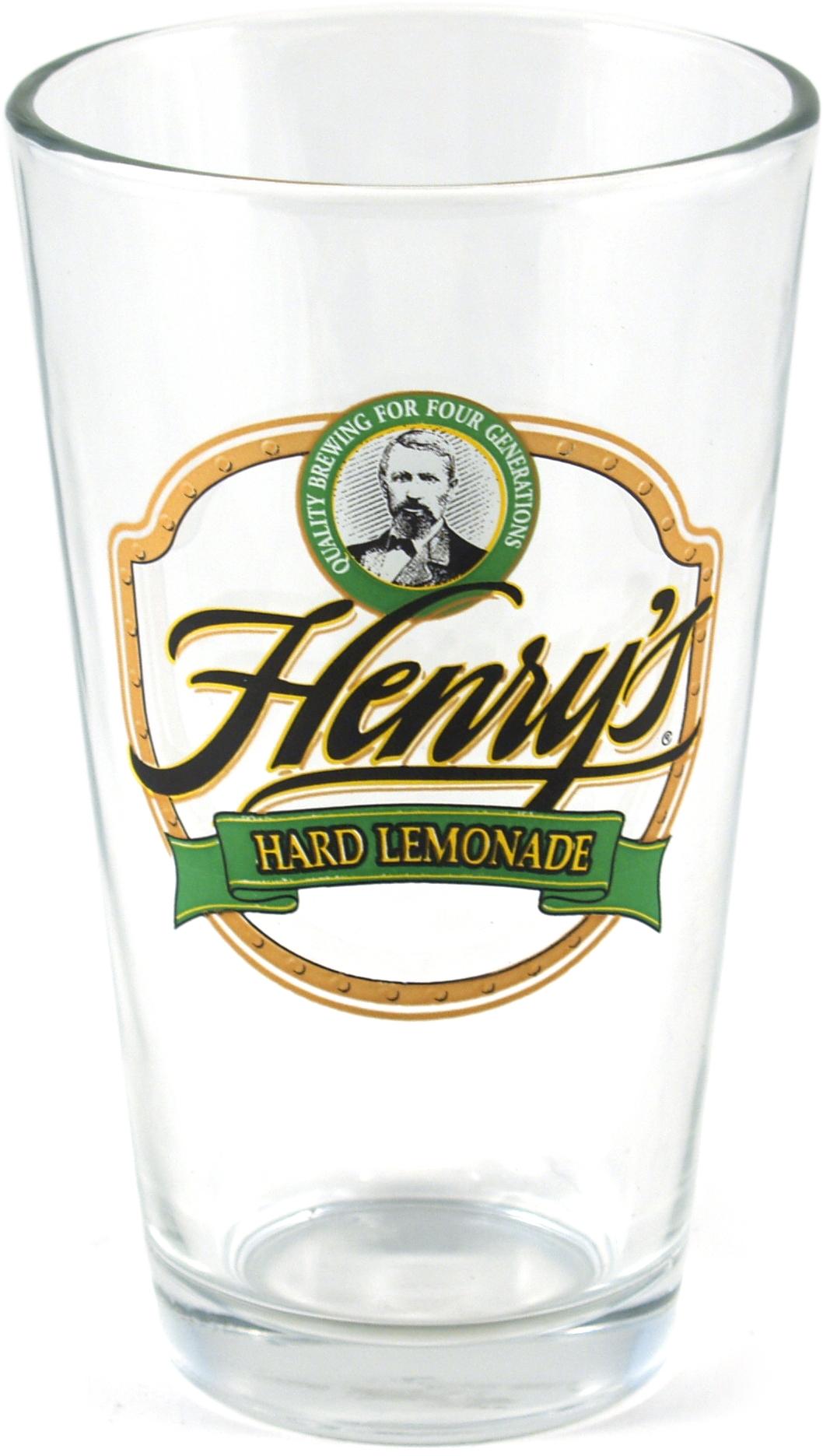 Henry's Hard Lemonade Pint Glass, Set of 4