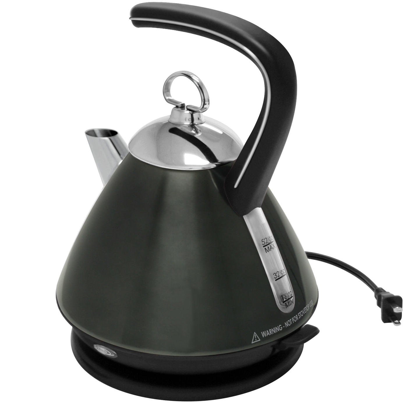 Chantal Onyx Brushed Stainless Steel Electric EKettle, 52 Ounce
