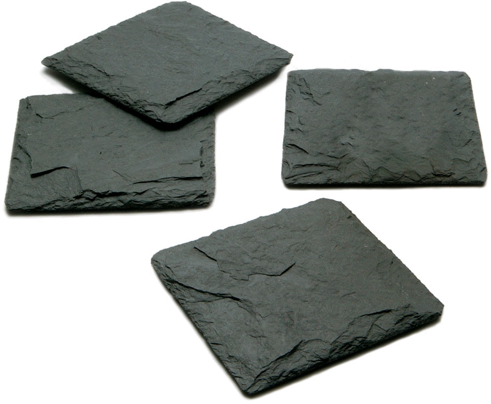 JK Adams Charcoal Slate Coaster, Set of 4