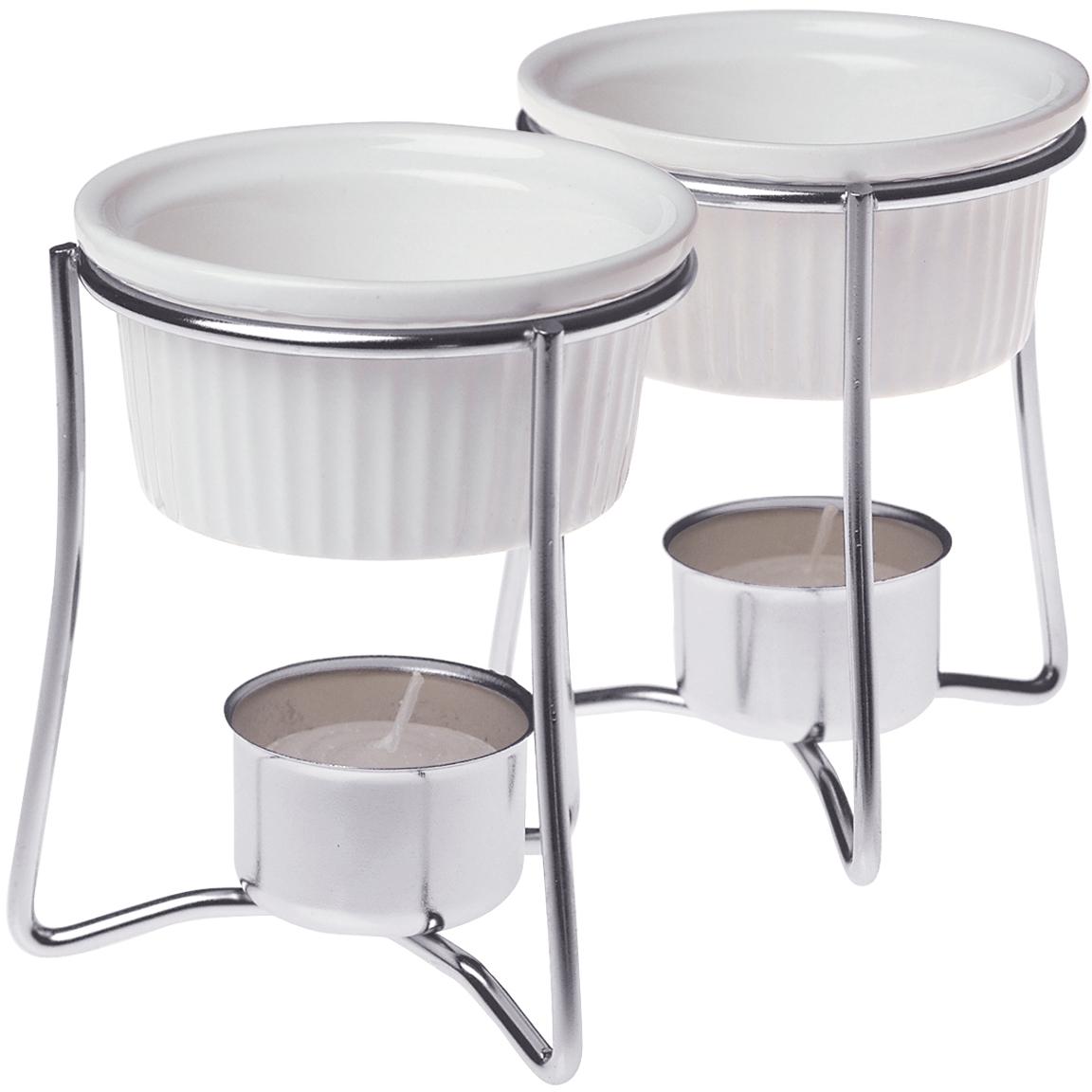 Prepworks by Progressive International Ceramic and Chrome Plated Steel Butter Warmer, Set of 2
