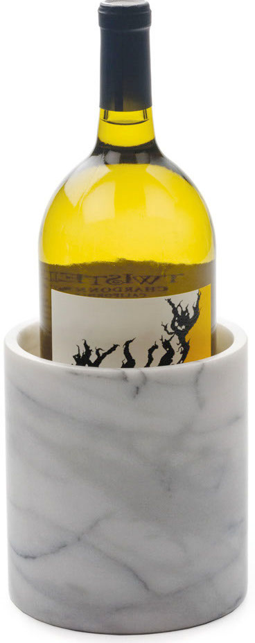 RSVP White Marble Wine Chiller and Tool Holder, 5.5 Inch
