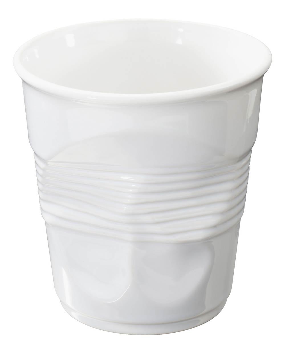 Revol Froisses White Porcelain 1 Quart Crumple Buffet Jar