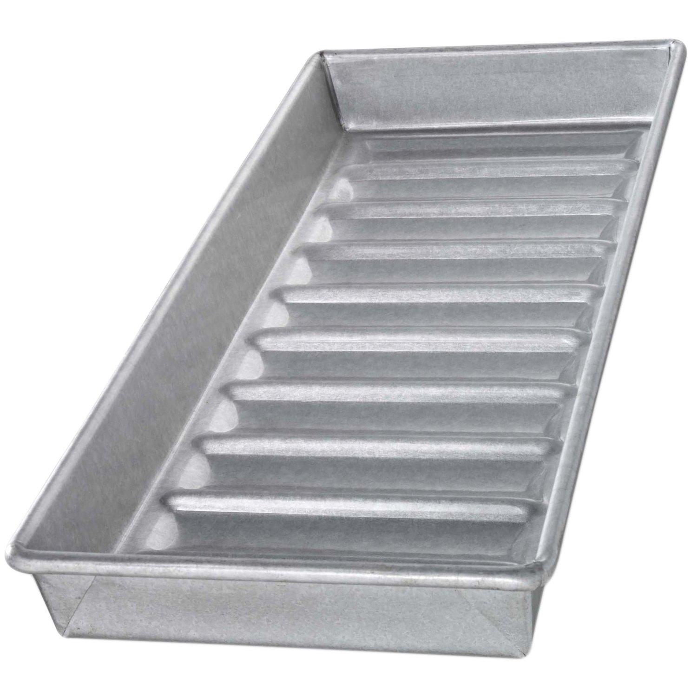USA Pan Aluminized Steel New England Hot Dog Bun Pan, 15 Inch