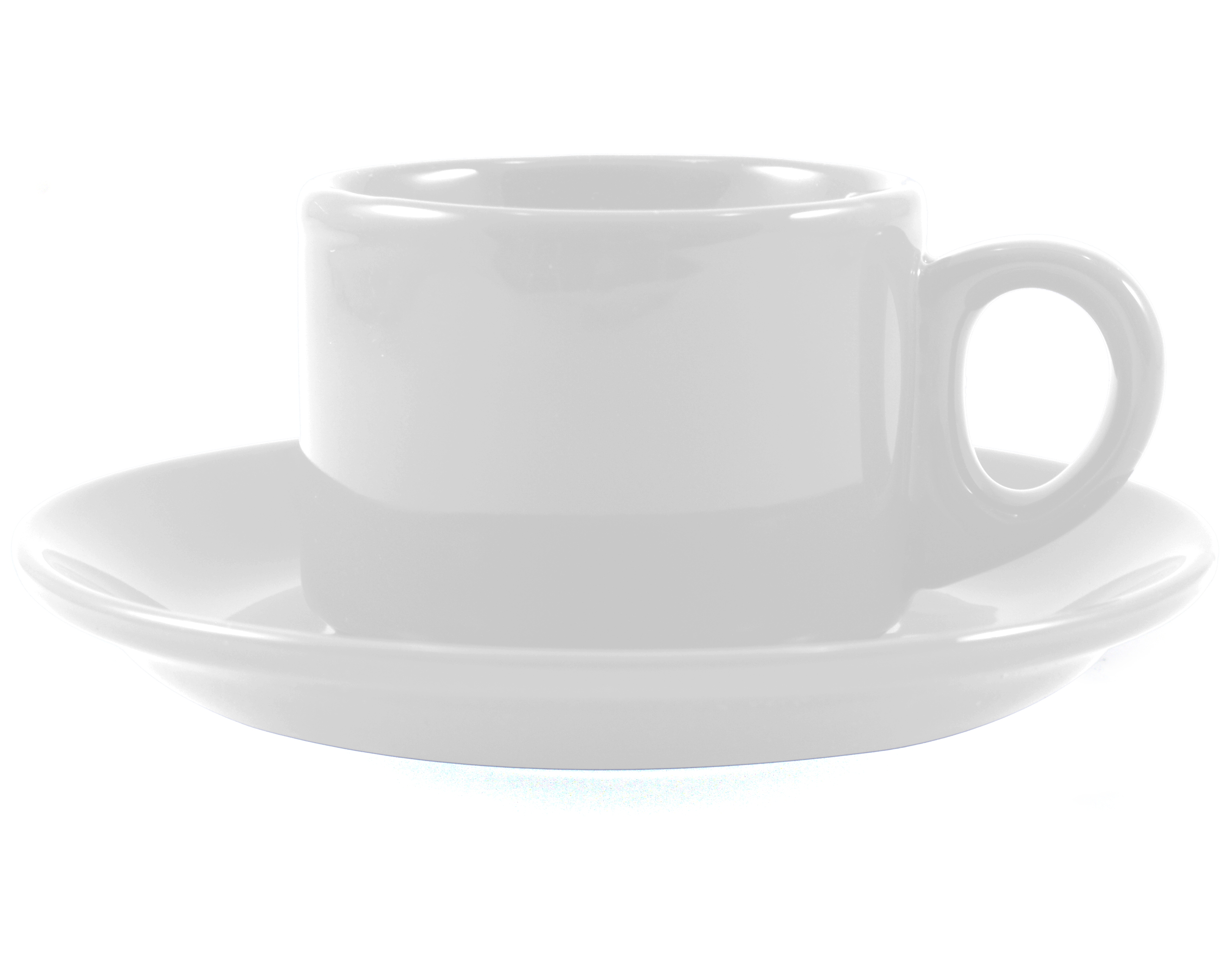 Omniware Espresso Coffee Delight White Stoneware Mug and Saucer Service for 2