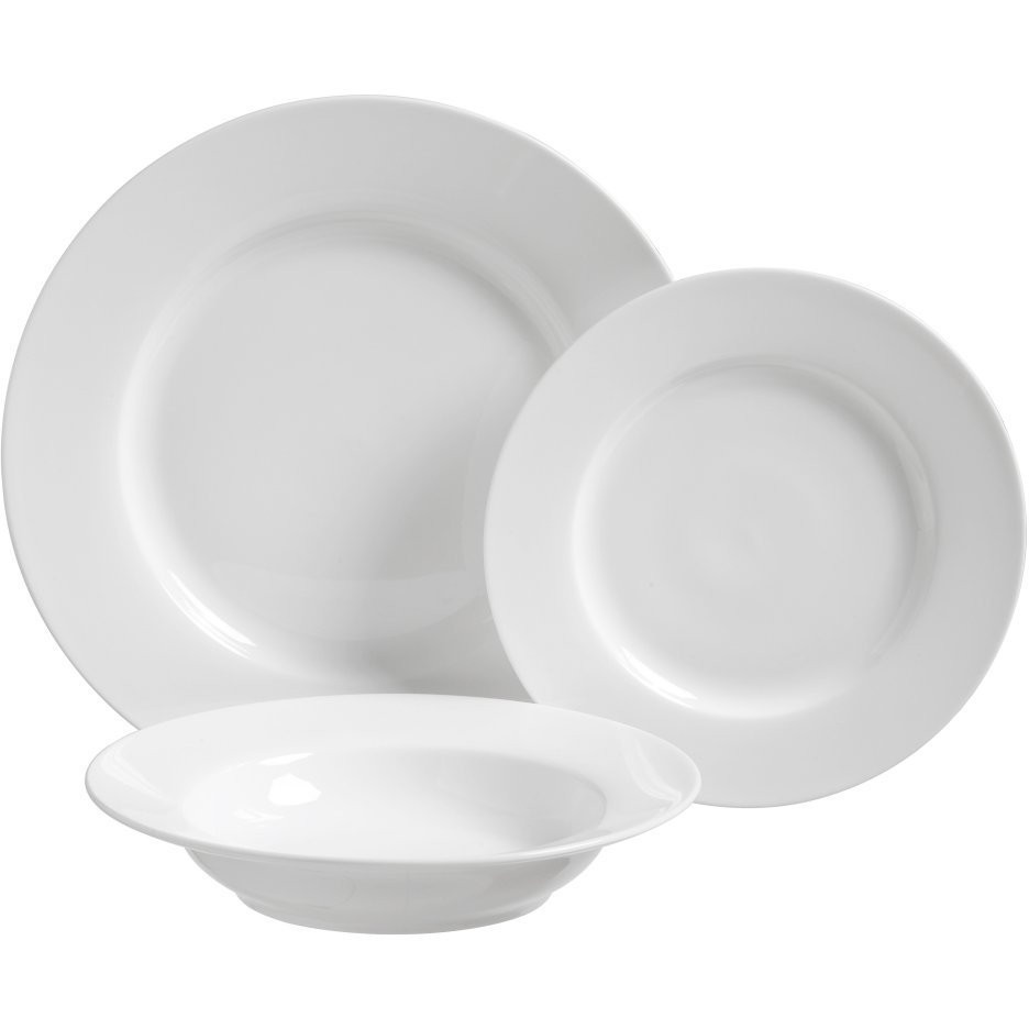 Luigi Bormioli Veridico White Porcelain 12 Piece Dinnerware Set with Service for 4  sc 1 st  BigKitchen & Luigi Bormioli Veridico White Porcelain 12 Piece Dinnerware Set with ...