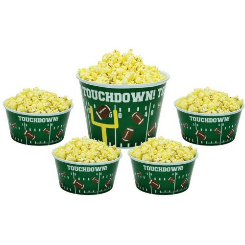 Boston Warehouse Touchdown 5 Piece Popcorn Bowl Set
