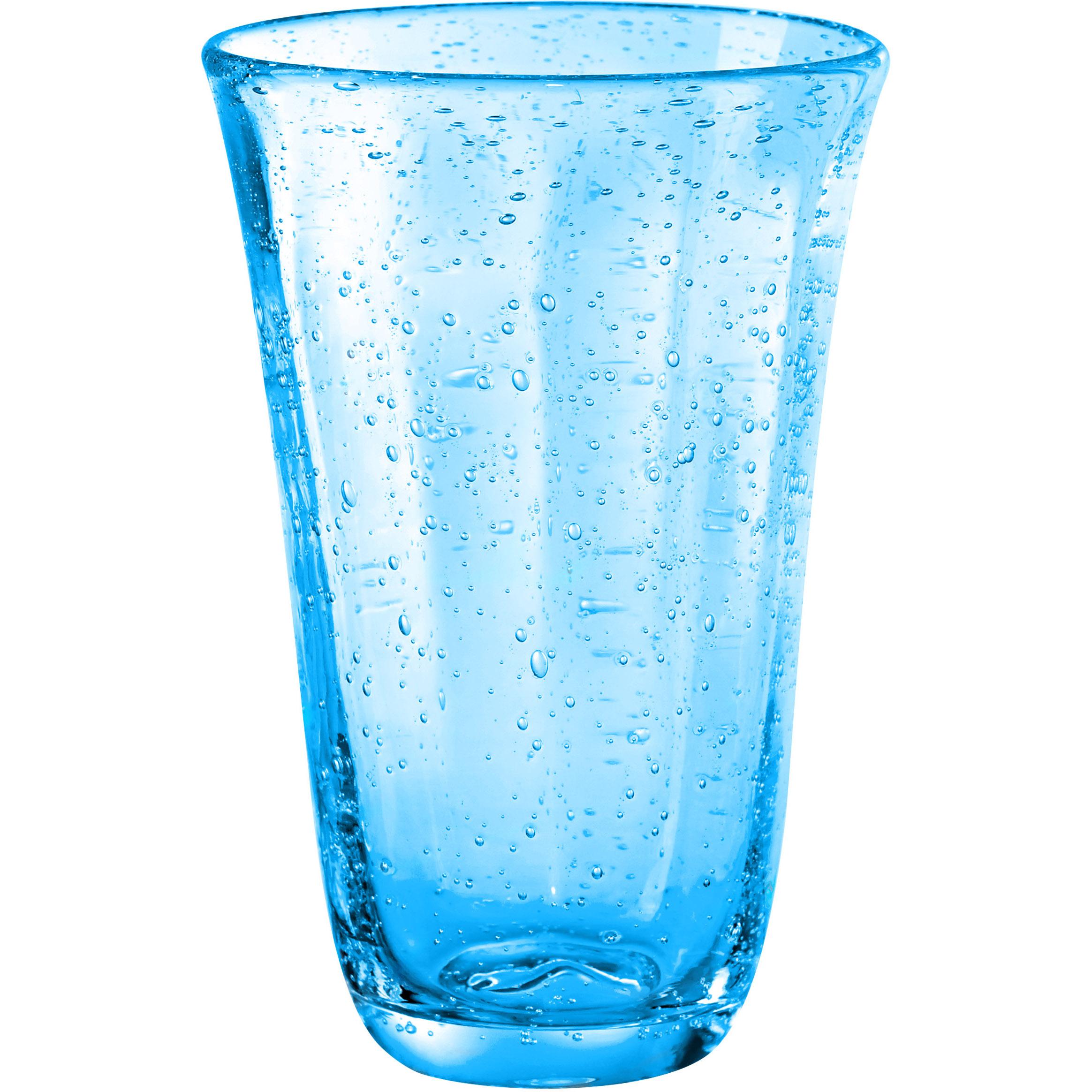 Artland Savannah Turquoise Bubble Glass 18 Ounce Highball Tumbler