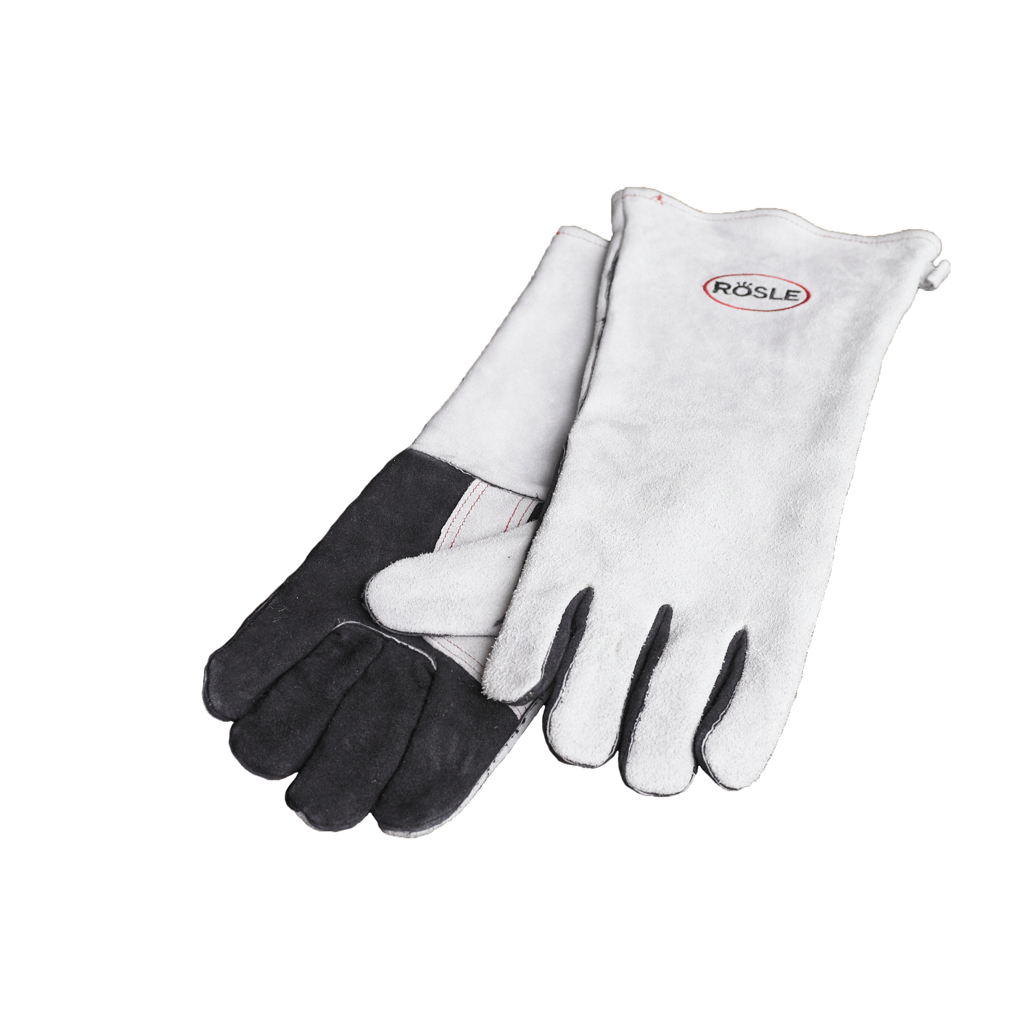 Rosle Grey Leather 16 Inch Grilling Gloves