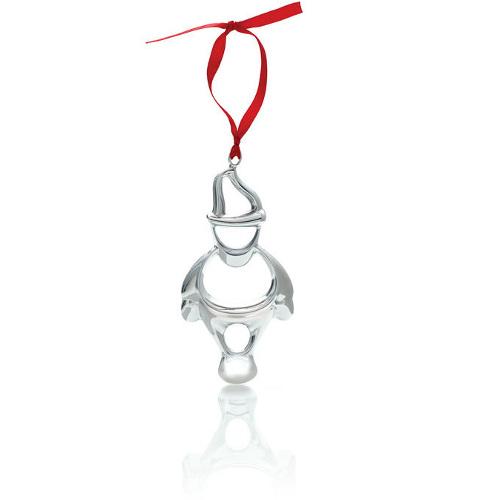 Nambe Holiday Alloy Santa Ornament