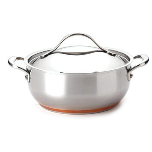 Anolon Nouvelle Copper Stainless Steel Casserole Dish, 4 Quart