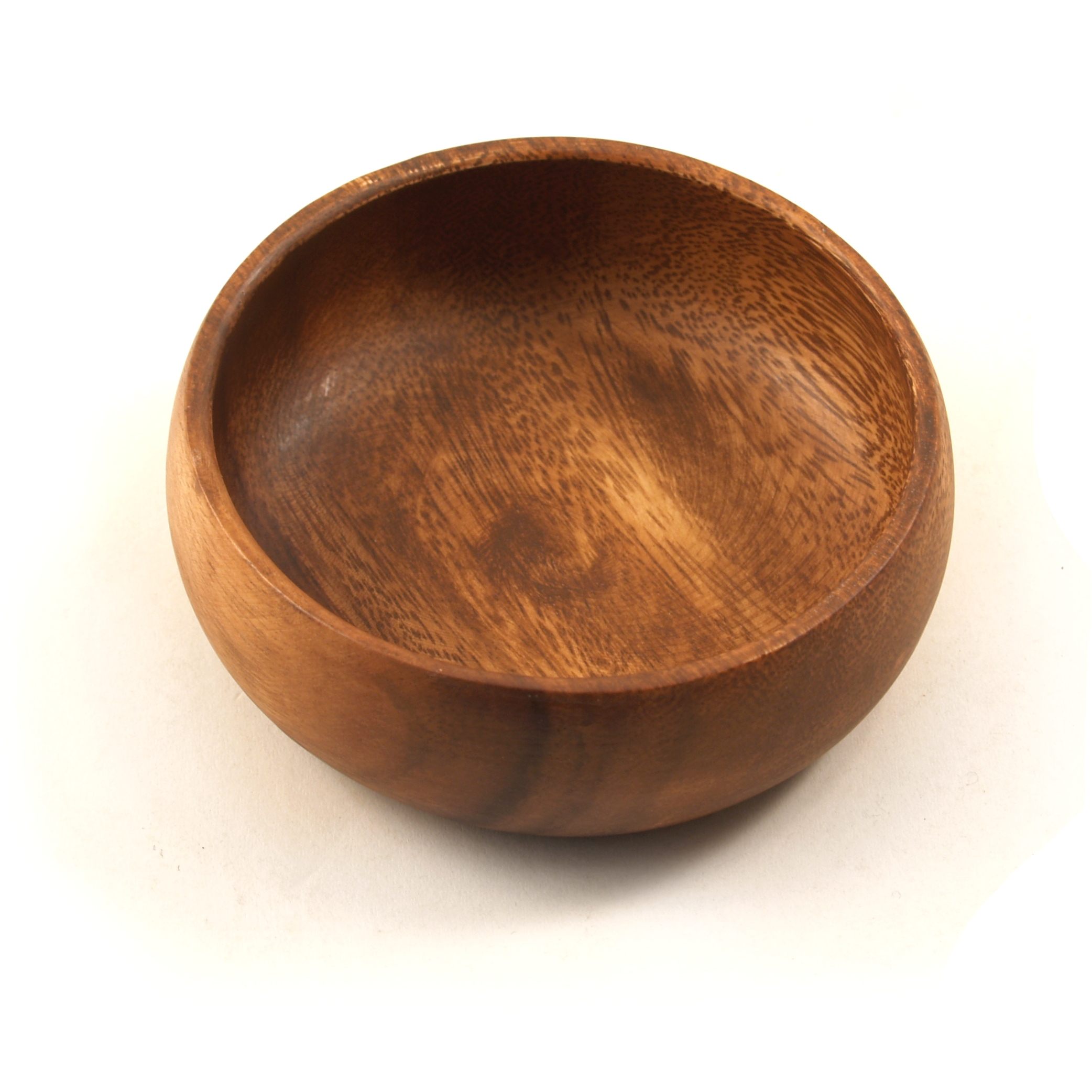 Pacific Merchants Acaciaware Round Calabash Dipping Bowl, 4 Inch