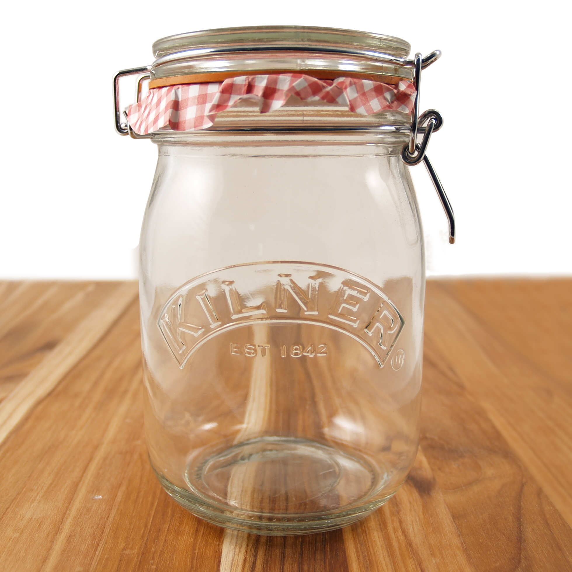 Kilner Glass Round Clip Top Jar, 34 Ounce