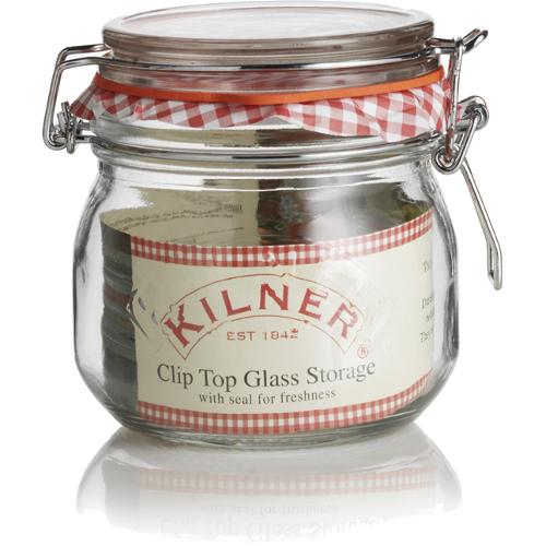 Kilner Glass Round Clip Top Jar, 17 Ounce