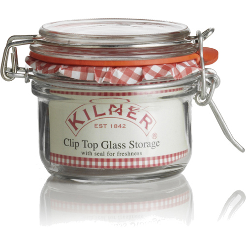 Kilner Glass Round Clip Top Jar, 4 Ounce
