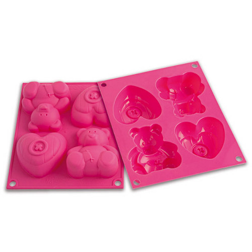 Silikomart Baby Line Pink Silicone Happy Sweetie Baking Mold