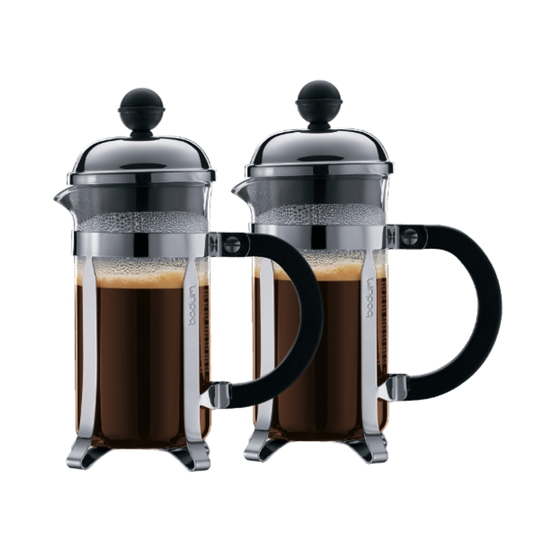 Bodum Chambord 3 Cup French Press Coffee Maker, Set of 2