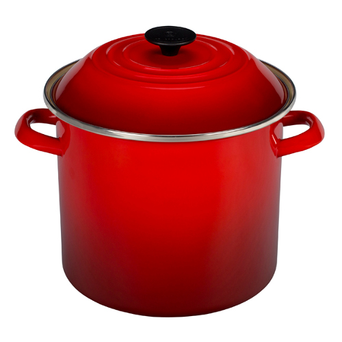 Le Creuset Cherry Enamel on Steel 10 Quart Stockpot