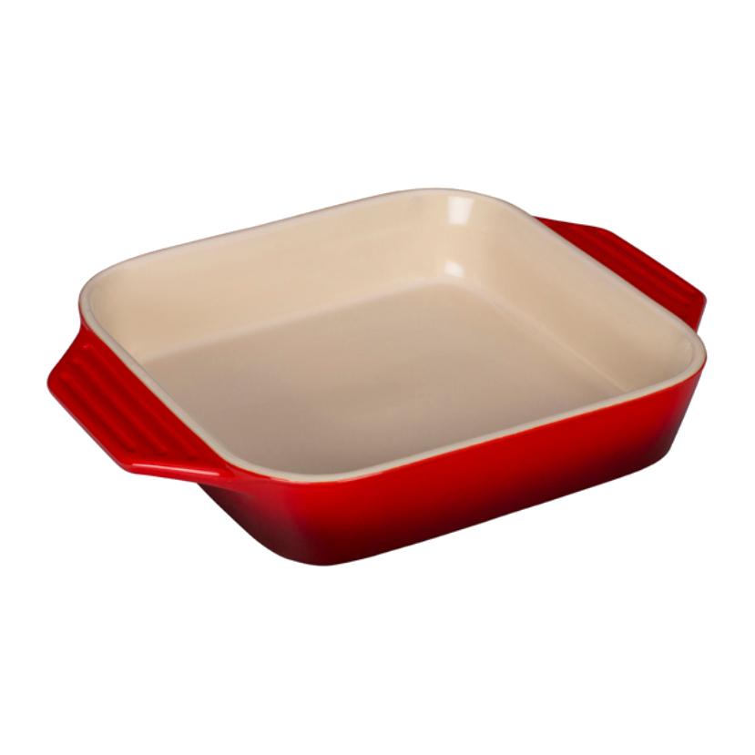 Le Creuset Cherry Stoneware Square Baking Dish, 2.2 Quart
