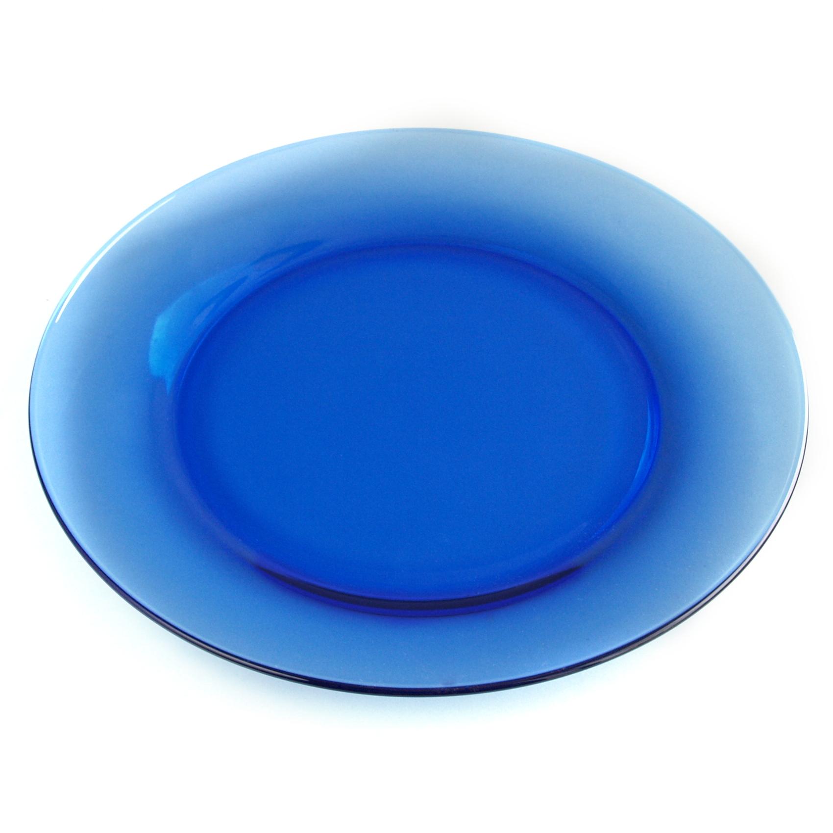 Anchor Hocking Cobalt Blue Glass Round 10 Inch Dinner Plate - Slight IR