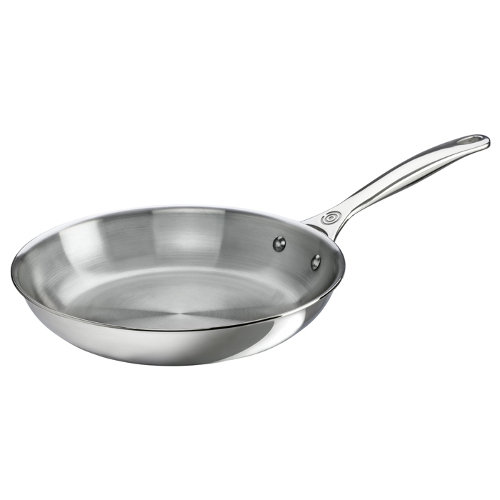 Le Creuset Tri-Ply Stainless Steel Fry Pan, 10 Inch
