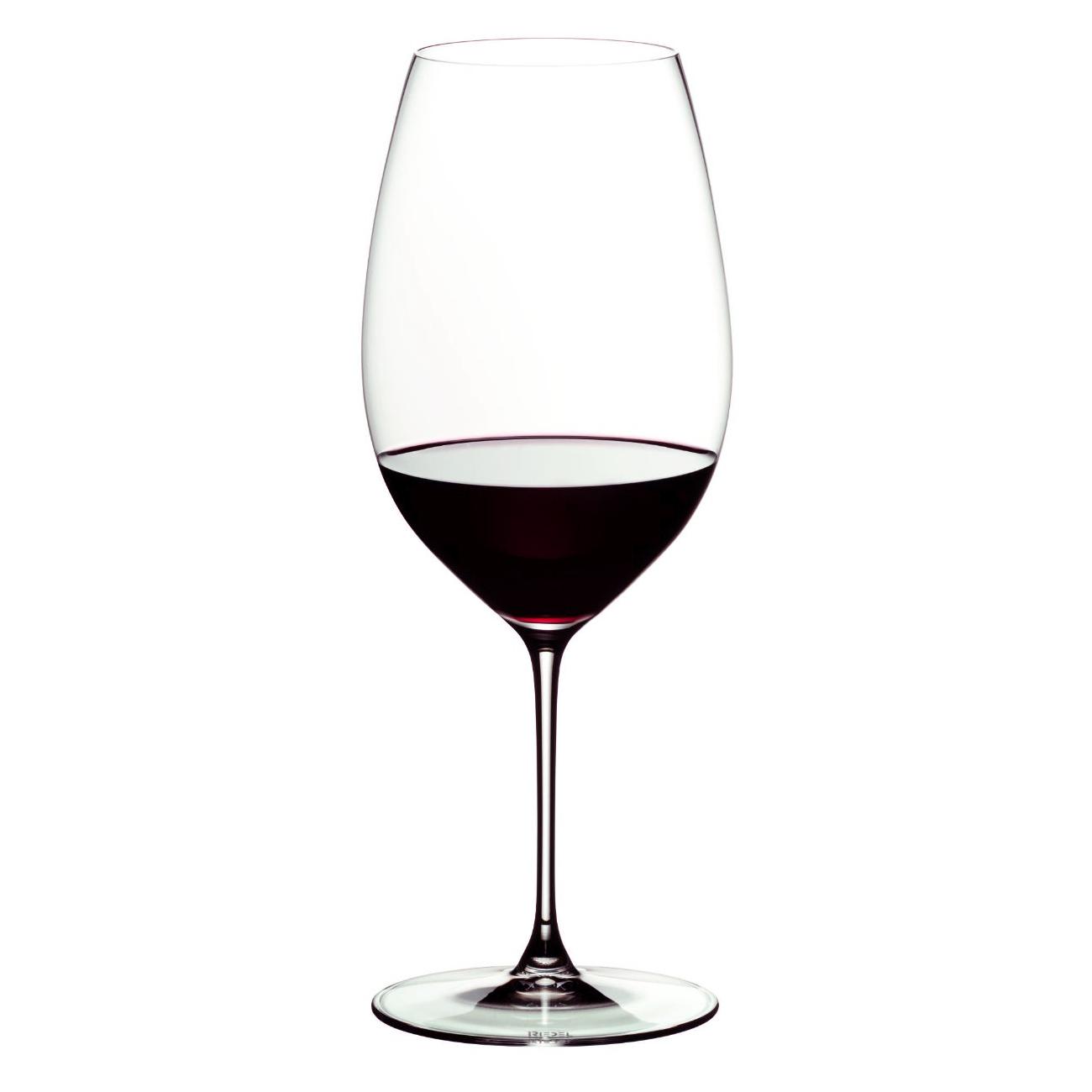 Riedel Veritas Leaded Crystal New World Shiraz Wine Glass, Set of 2