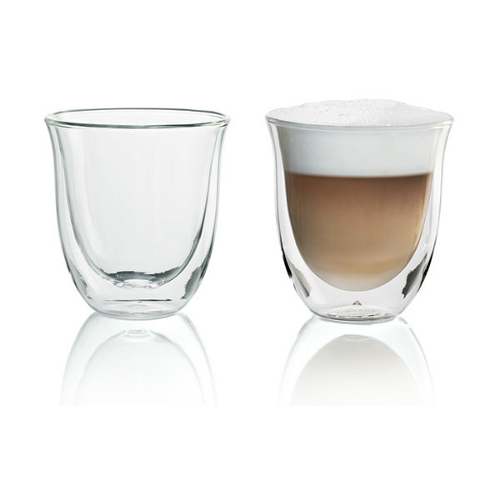 Delonghi Double Walled Thermo Cappuccino Glass, Set of 2