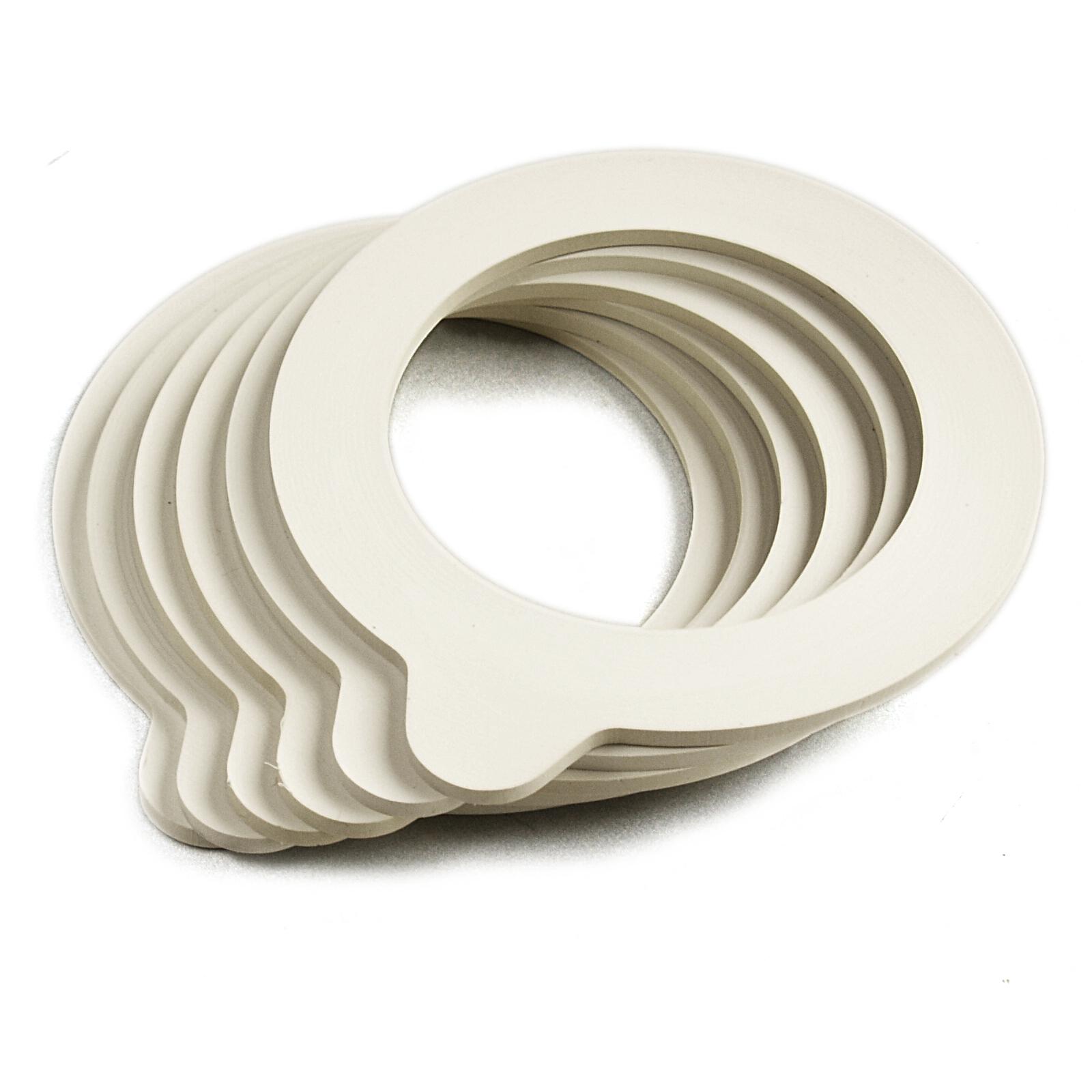 Bormioli Rocco Fido Jar White Replacement Gaskets, Set of 6