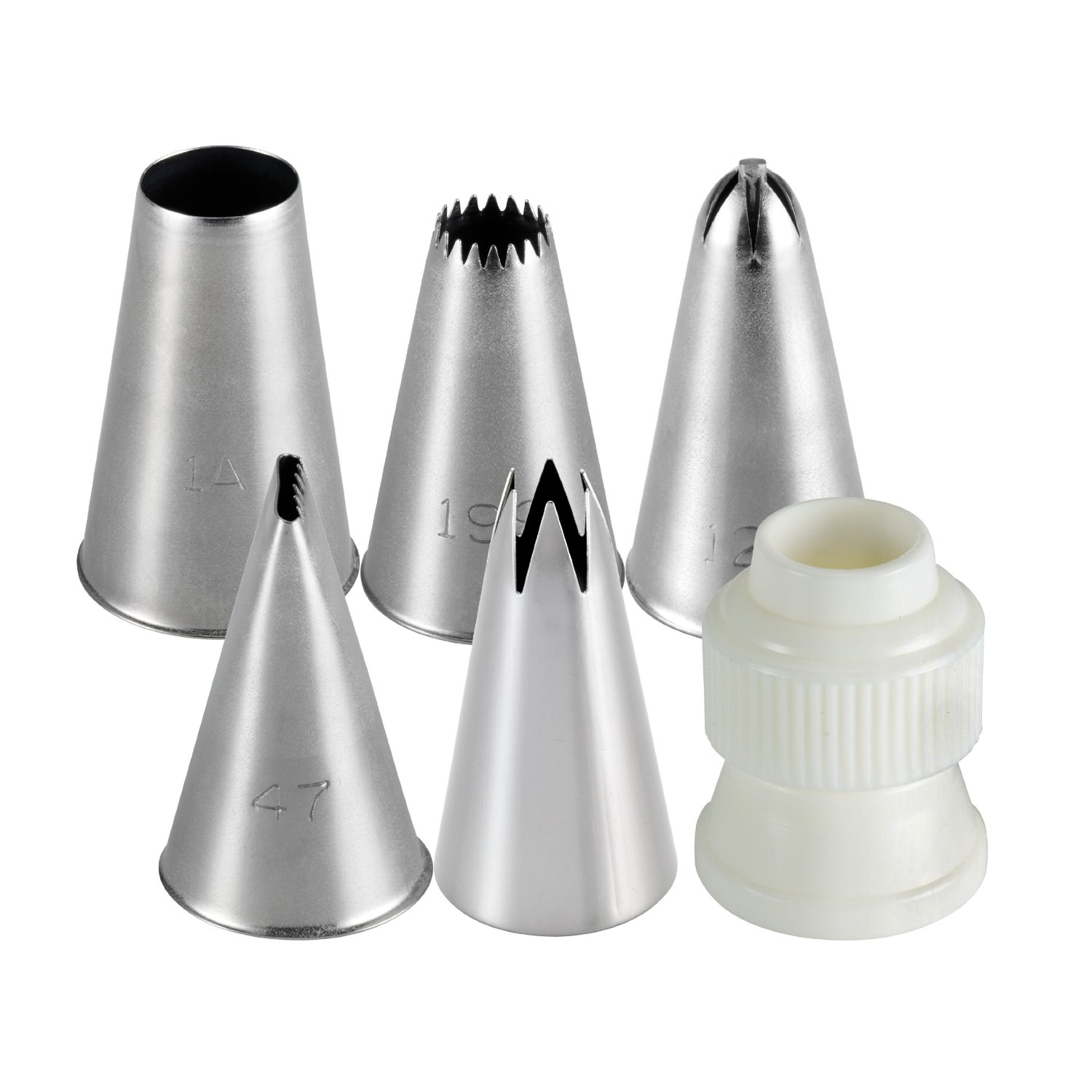 Cake Boss Stainless Steel 6 Piece Decorating Tip Set