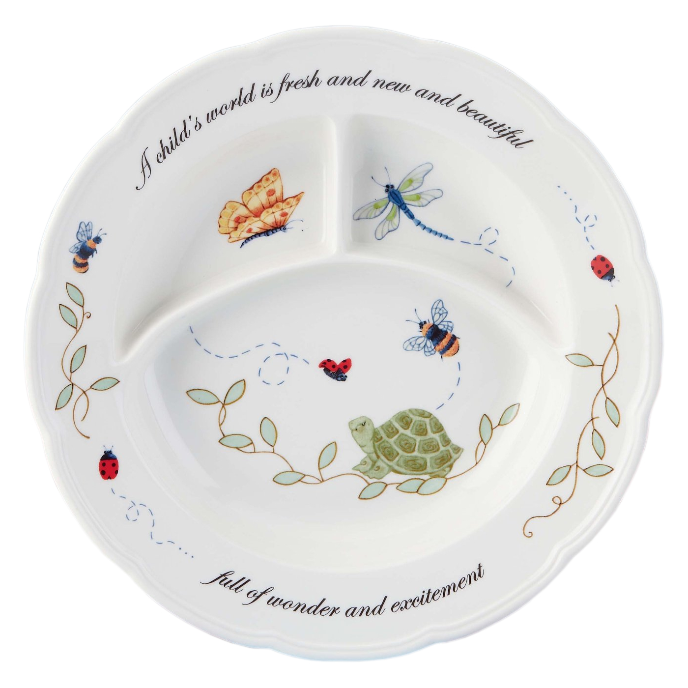 Butterfly Meadow 8.5 Inch Divided Baby Dish
