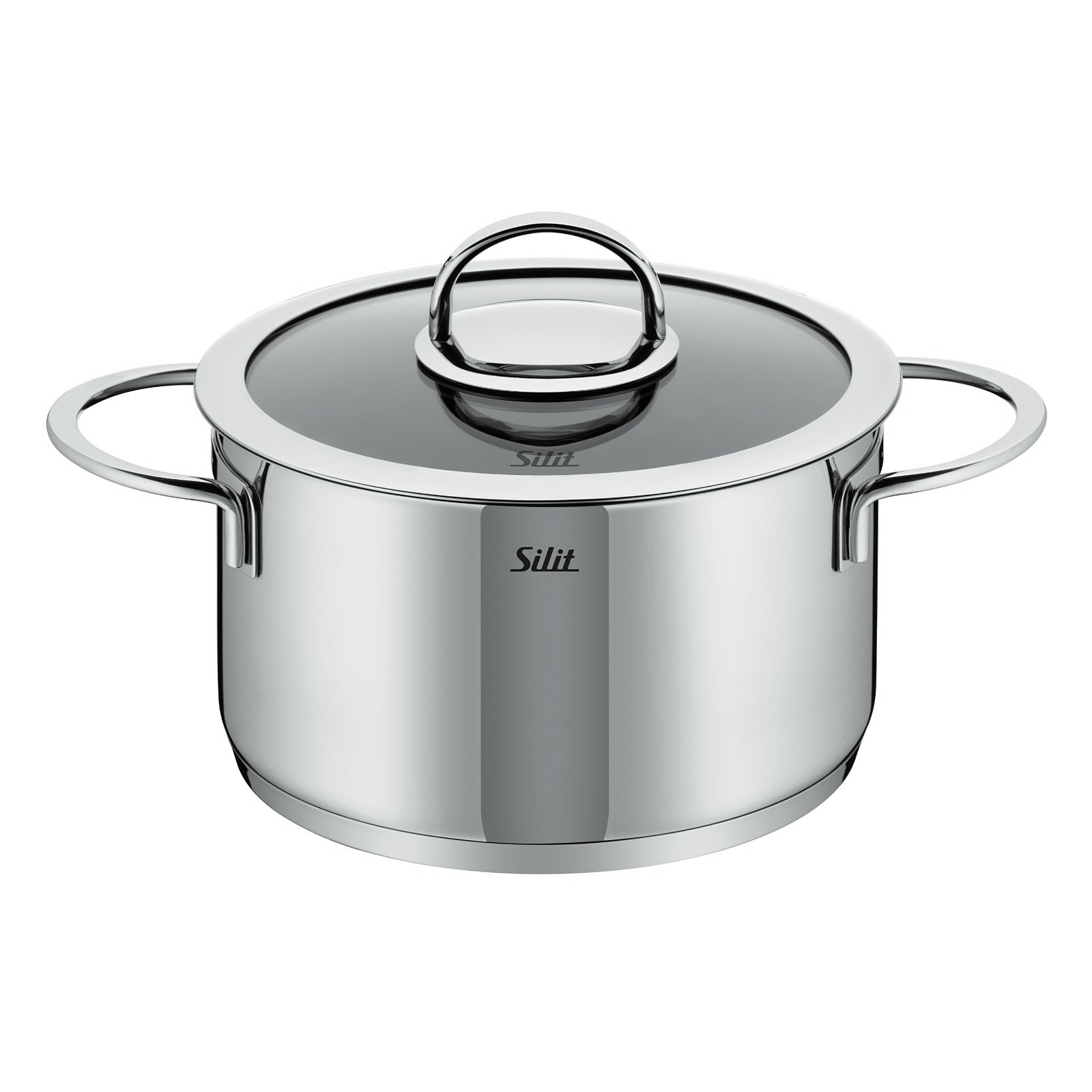 Silit Vignola Stainless Steel 6.6 Quart High Casserole with Lid