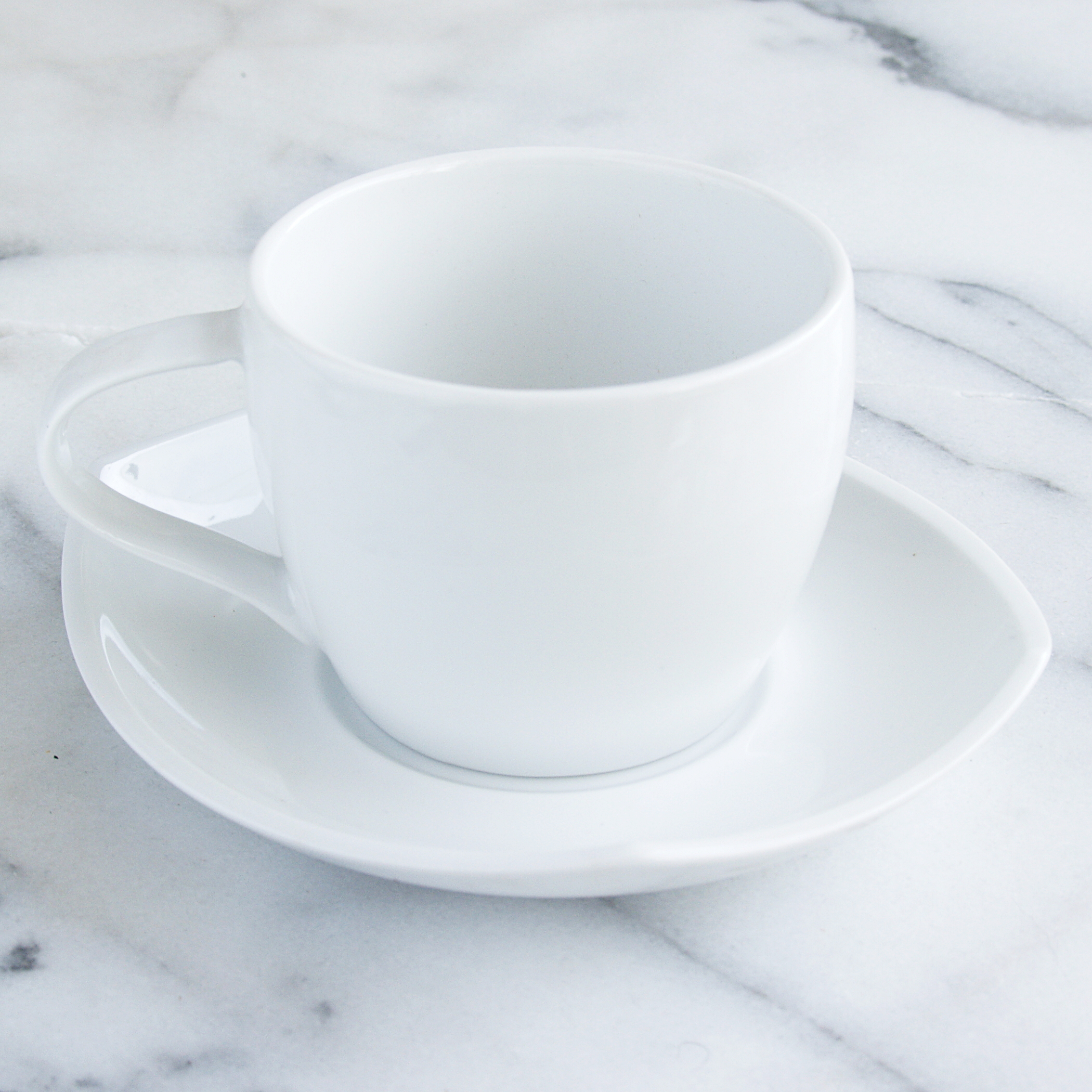 Dansk Dinnerware Classic Fjord 8 Piece Porcelain Cup and Saucer Tea Set