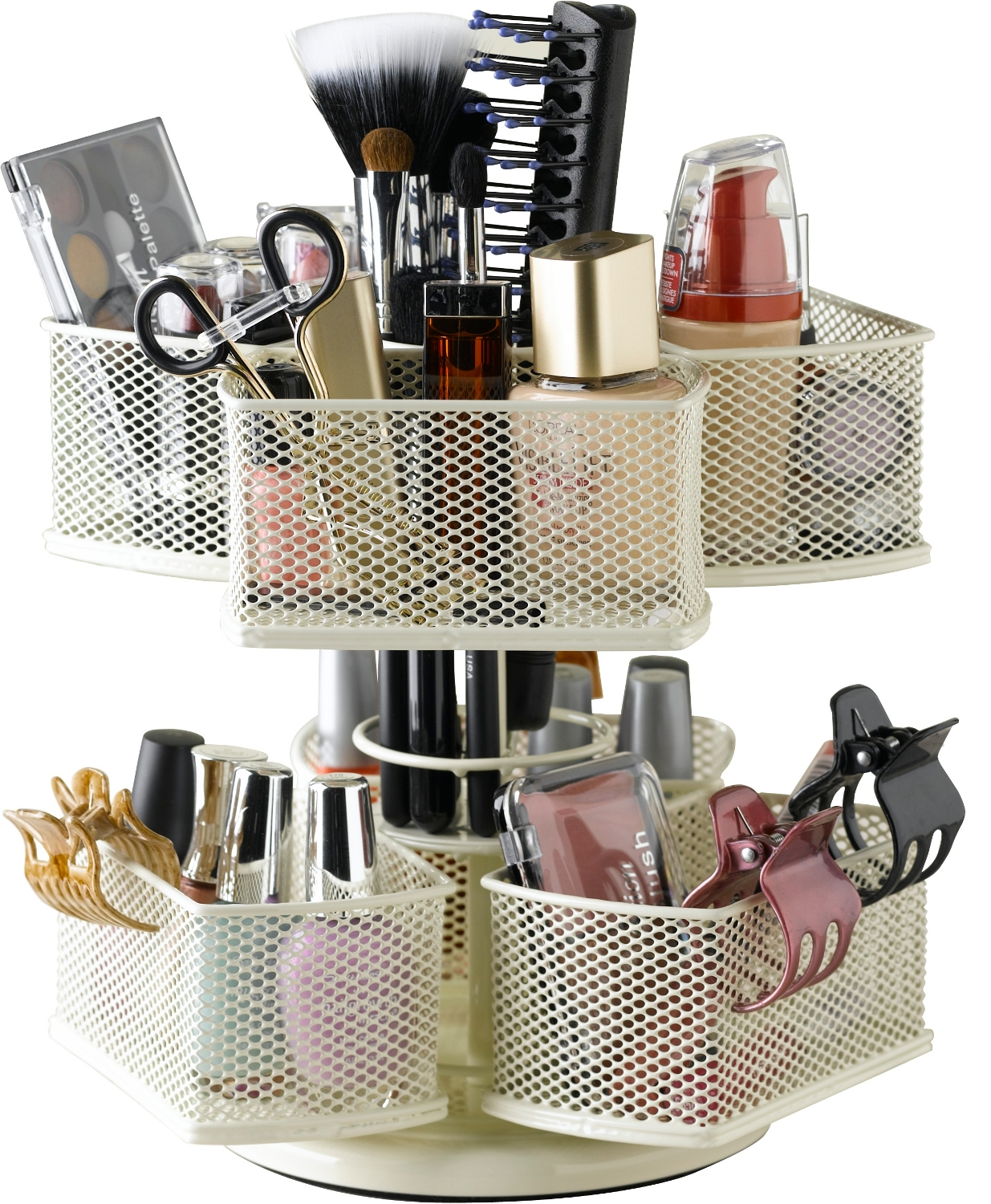 Nifty Home Products Cream Make-Up Carousel