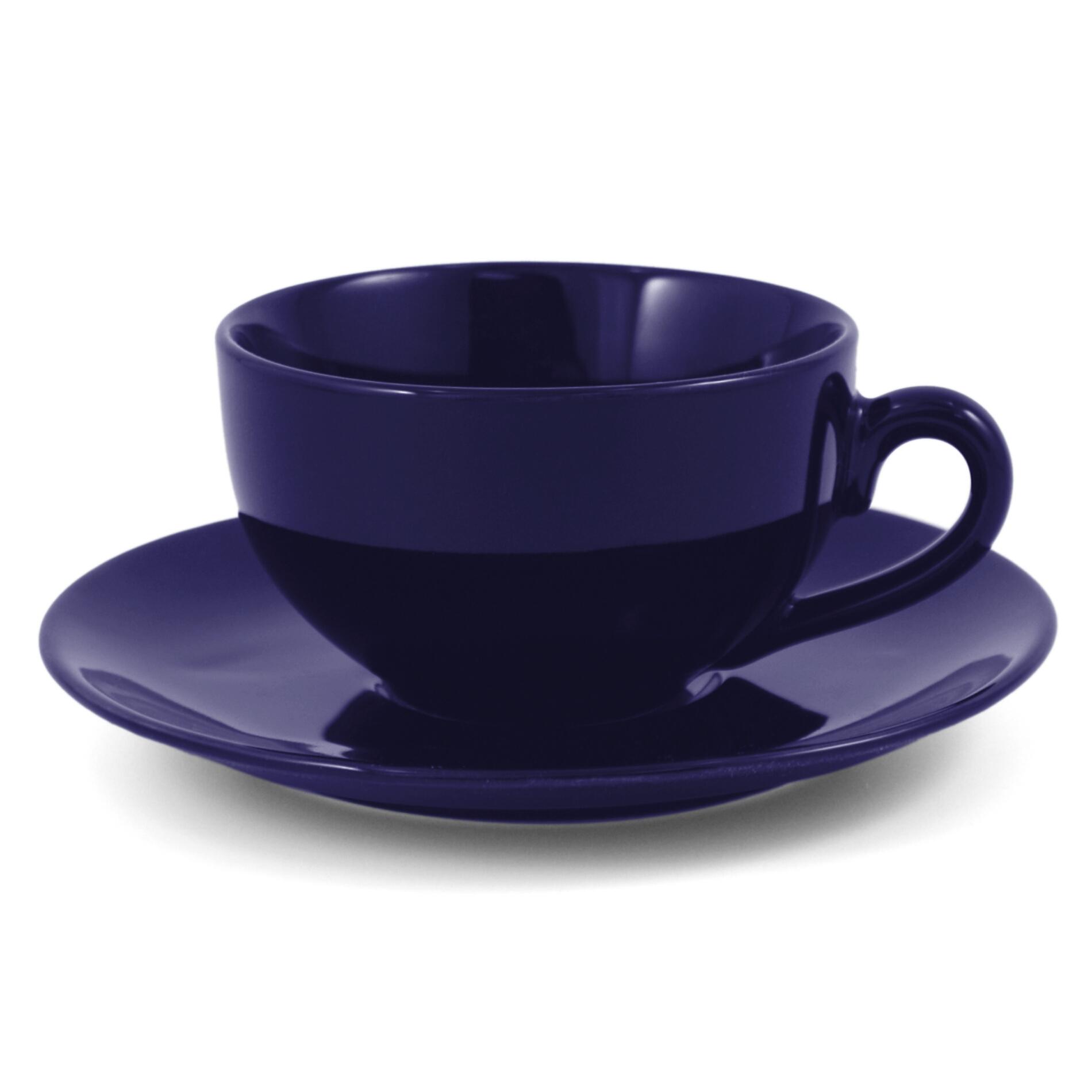 Metropolitan Tea Royal Blue Ceramic Teacup and Saucer Set
