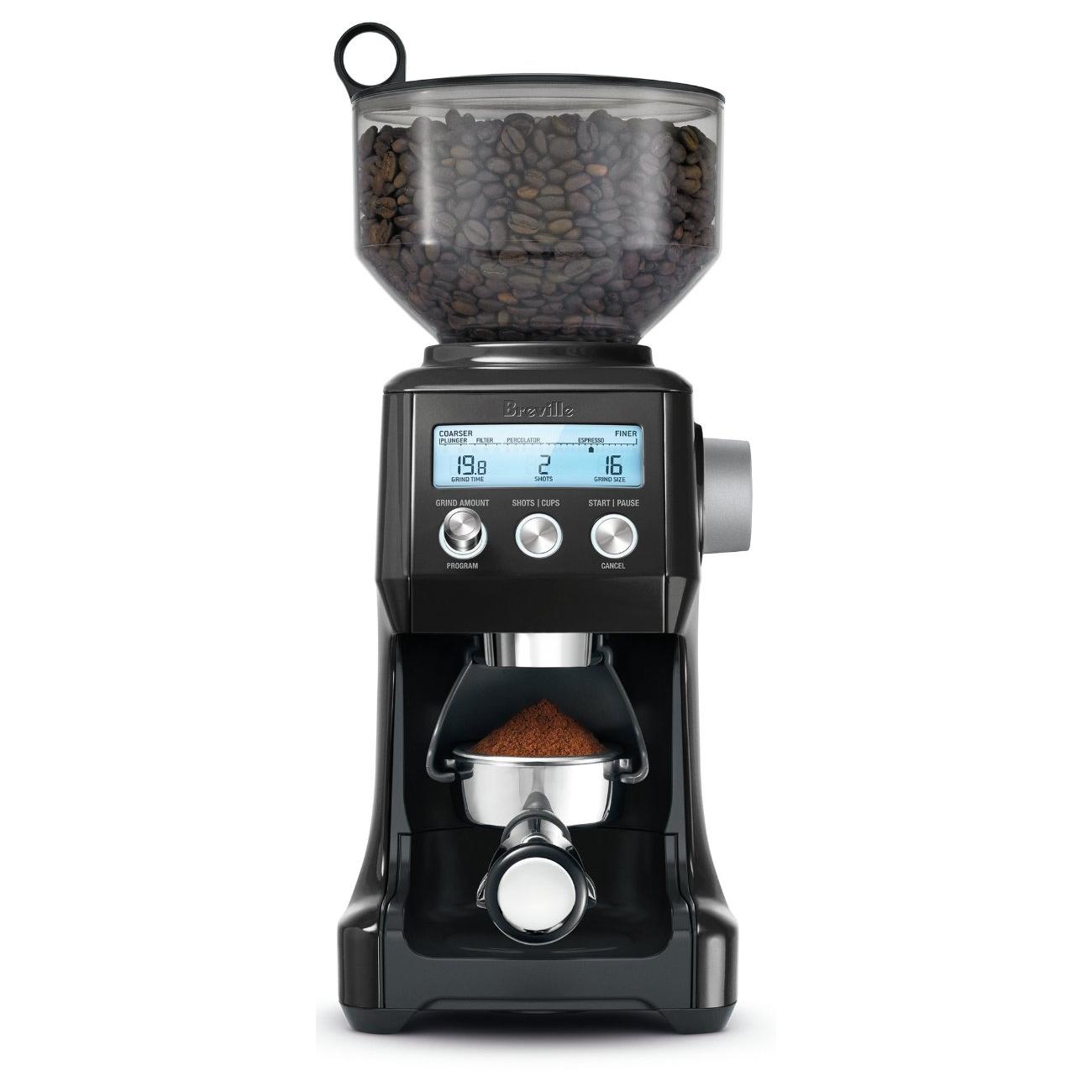 Breville Smart Grinder Pro Black Sesame Die-Cast Metal Conical Burr Coffee Grinder