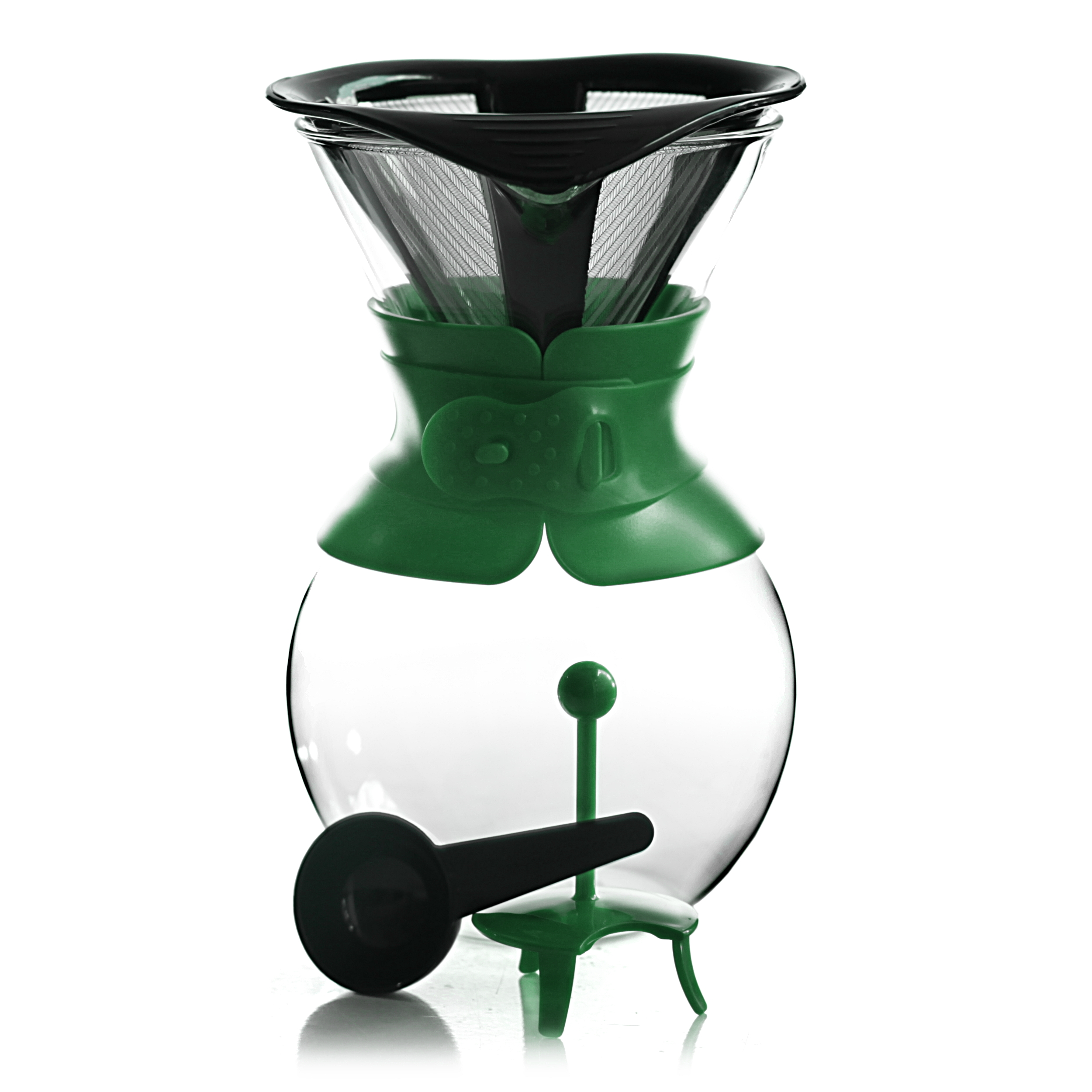 Bodum Pour Over Dark Green 34 Ounce Coffee Maker with Permanent Filter