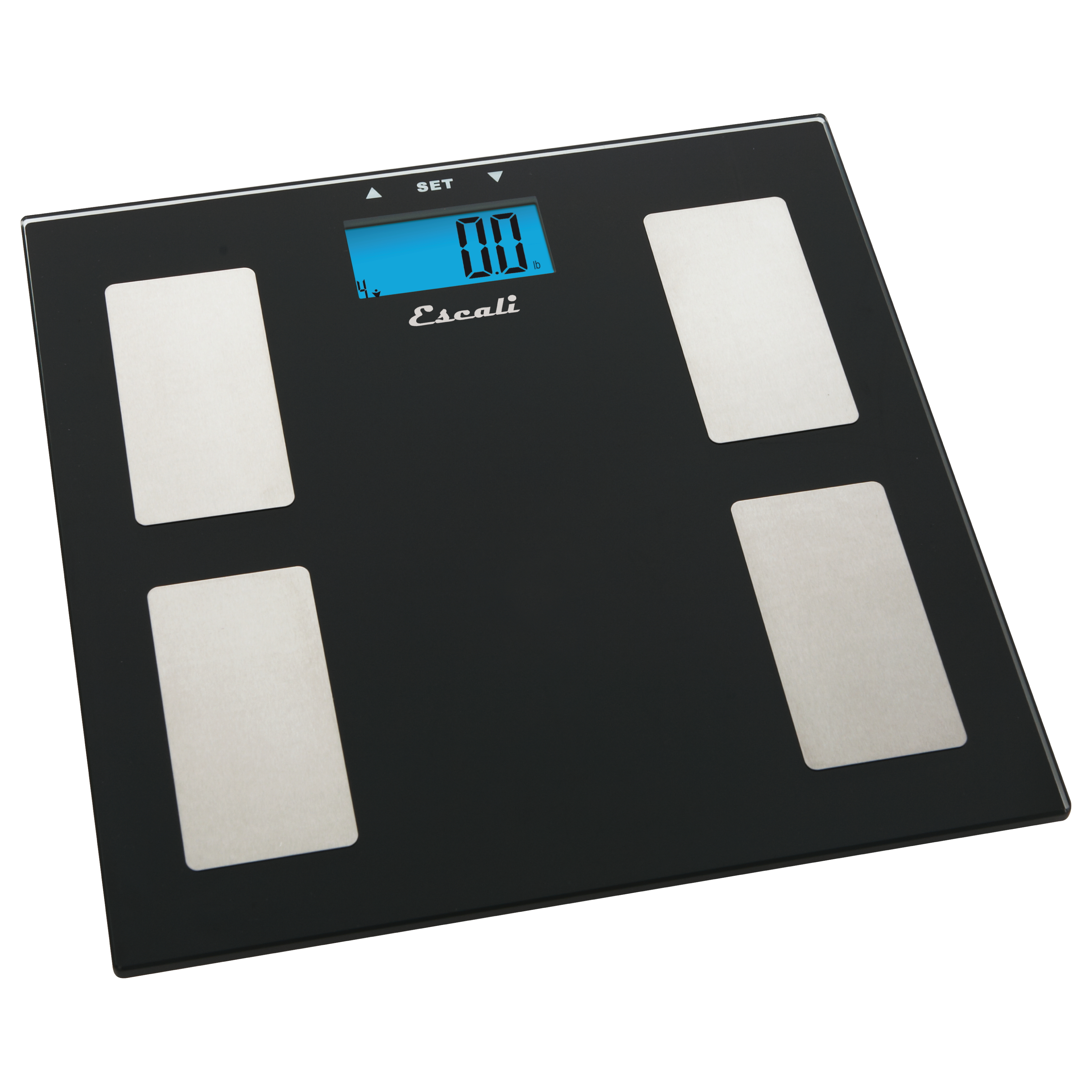 Escali Black Glass Health Monitor Digital Scale