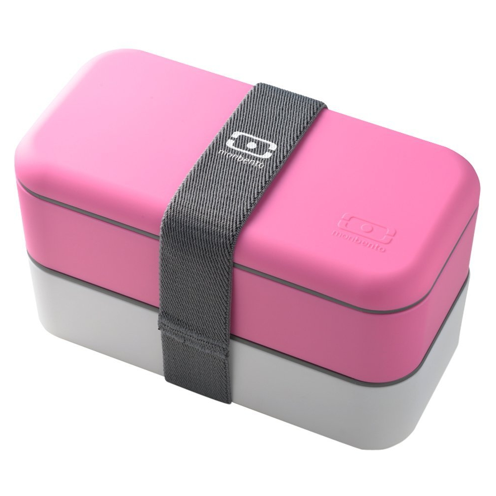 Monbento MB Original V Pink and White Bento Box