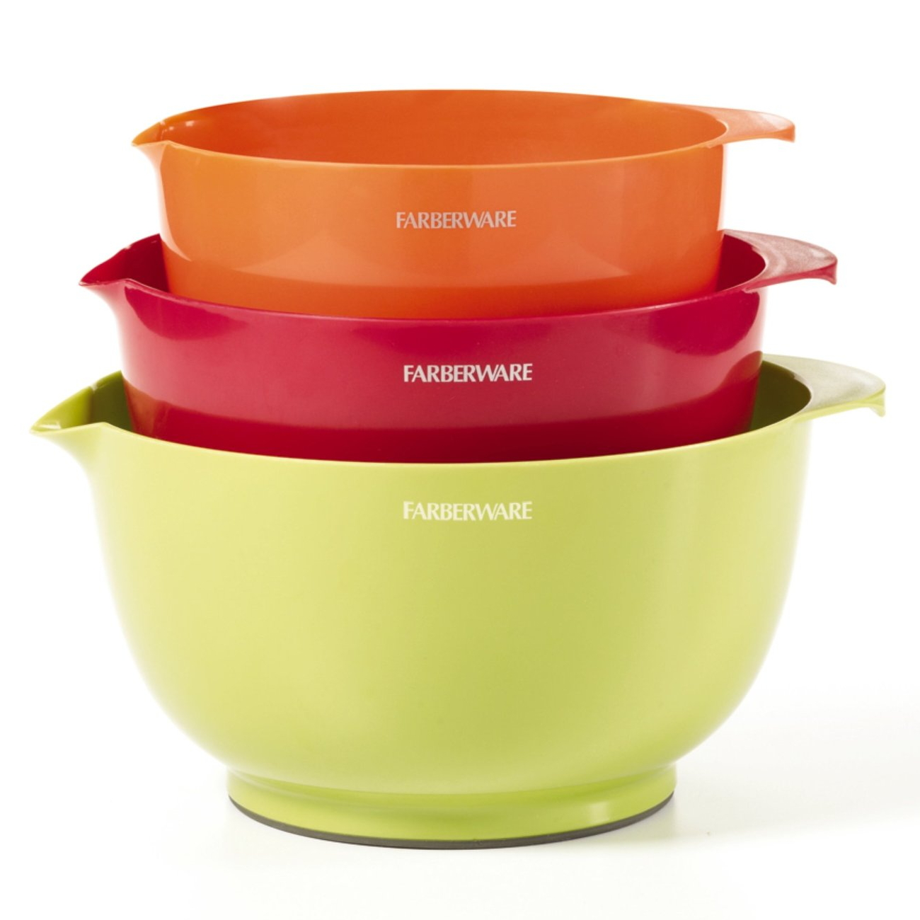 Farberware Classic 3 Piece Colorful Mixing Bowl Set